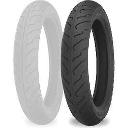Shinko 712 Rear Tire - 100/90-18 - Michelin Pilot Activ Front Tire - 90/90-18H