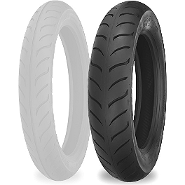 Shinko 718 Rear Tire - MT90-16 - Shinko 250 Whitewall Tire Combo