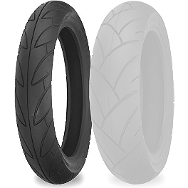 Shinko SR740 Front Tire - 110/80-17 - Shinko 003 Stealth Rear Tire - 180/55ZR17 Ultra-Soft