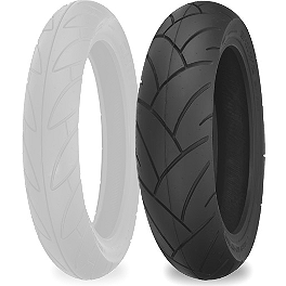 Shinko SR741 Rear Tire - 130/80-16 - Arlen Ness Teardrop Alt Mirror - Black Left