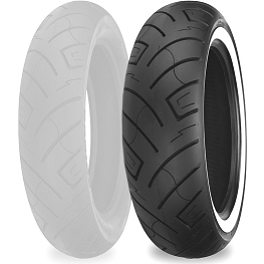 Shinko 777 Front Tire - 140/80-17 Whitewall - Shinko 006 Podium Rear Tire - 150/60-18
