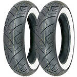 Shinko 777 Whitewall Tire Combo -  Cruiser Tires