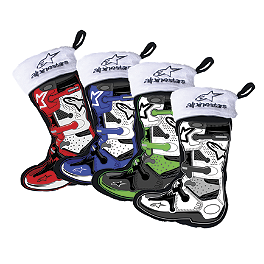 Smooth Industries Alpinestars Mini Stocking Ornaments - 4-Pack - Smooth Industries MX Superstars Holiday Stocking