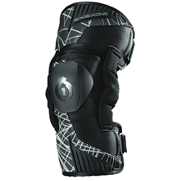 SixSixOne Youth Cyclone Knee Braces - Asterisk Germ Youth Knee Braces