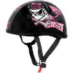 Skid Lid Original Helmet - Bad To The Bone - Skid Lid Dirt Bike Half Shell Helmets