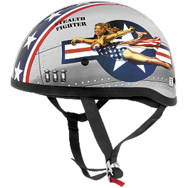 Skid Lid Original Helmet - Bomber Pinup - Skid Lid Original Helmet - Hell On Wheels