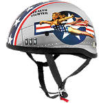 Skid Lid Original Helmet - Bomber Pinup - Skid Lid Cruiser Products