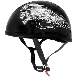 Skid Lid Original Helmet - Biker Skull - Skid Lid Original Helmet - Hell On Wheels