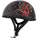 Skid Lid Original Helmet - Hell On Wheels -  Half Shell Cruiser Helmets
