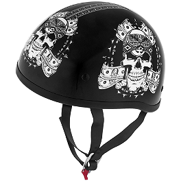 Skid Lid Original Helmet - Thug Skull - Skid Lid Original Helmet - Hell On Wheels