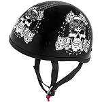 Skid Lid Original Helmet - Thug Skull - Skid Lid Motorcycle Helmets and Accessories