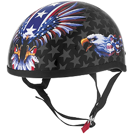 Skid Lid Original Helmet - USA Flame Eagle - AFX FX-70 Helmet - Flag
