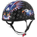 Skid Lid Original Helmet - USA Flame Eagle -  Half Shell Cruiser Helmets