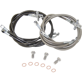Streamline 3-Line Front Brake Line Combo - 2008 Kawasaki KFX450R Galfer Rear Brake Line Kit +4