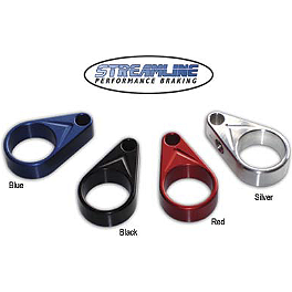 Streamline Brake Line Clamps - 2004 Yamaha WARRIOR Streamline Front And Rear Brake Line Kit