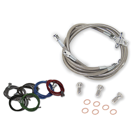 Streamline Front And Rear Brake Line Kit - 2006 Polaris PREDATOR 500 Rock E-Brake Block Off Plate - Flame