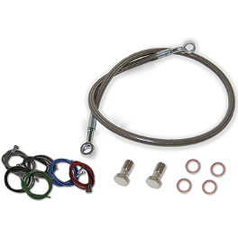 Streamline Rear Brake Line - 2000 Yamaha WARRIOR Rock Brake Block Off Plate
