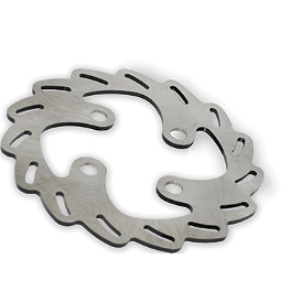 Streamline Blade Brake Rotor - Rear - 2007 Yamaha RHINO 450 Galfer Sintered Brake Pads - Front Left
