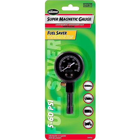 Slime 0-60 PSI Magnetic Dial Tire Pressure Gauge - Main