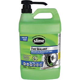Slime Super Duty Tire Sealant With Pump - 1 Gallon - 2008 Kawasaki KFX450R Blingstar X Country Rodeo Grab Bar - Textured Black