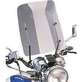 Slipstreamer Cf30 Universal Windshield - Slipstreamer S-06 Spitfire Sport Shield With Chrome 7/8