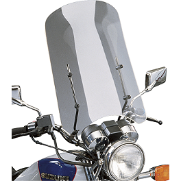 Slipstreamer Cf40 Universal Windshield - Slipstreamer S-06 Spitfire Sport Shield With Chrome 7/8