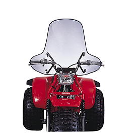 Slipstreamer SS-1 ATV Windshield Standard - Clear - Quadboss Quick Release Universal Windshield Without Headlight Cutout