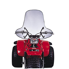 Slipstreamer SS-1 Windshield High Cut-Out - Clear - Slipstreamer SS-2 Big Country Windshield Standard - Screened