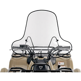Sliptreamer SS-2 Big Country ATV Windshield Standard - Clear - Quadboss Quick Release Universal Windshield With Headlight Cutout