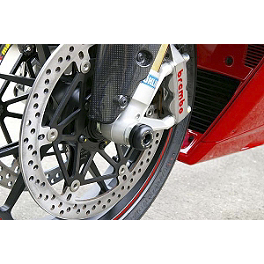Sato Racing Front Axle Sliders - Black - 2010 Ducati Monster 696 Sato Racing Lower Right Engine Cover - Gloss