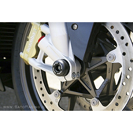 Sato Racing Front Axle Sliders - Black - 2010 KTM 1190 RC8 R Sato Racing Shift Spindle Holder - Silver