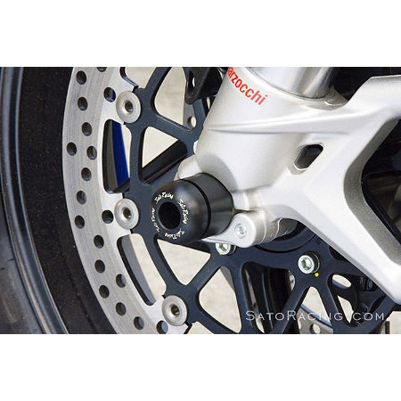 Sato Racing Front Axle Sliders - Black - Main