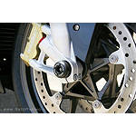 Sato Racing Front Axle Sliders - Black - Aprilia Dirt Bike Body Parts