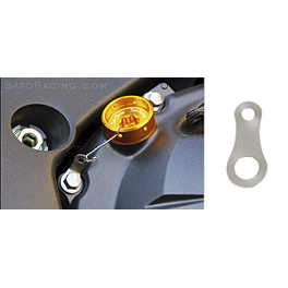 Sato Racing Titanium Locking Plate For Oil Filler Caps - 2009 Triumph Daytona 675 GB Racing Clutch Cover