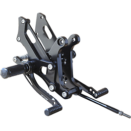 Sato Racing Adjustable Rearset - 2010 Kawasaki EX250 - Ninja 250 Woodcraft Complete Rearset Kit