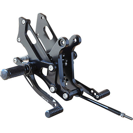 Sato Racing Adjustable Rearset - Black