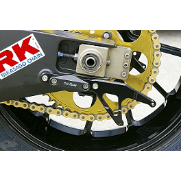 Sato Racing Swingarm Hook Set - Black - Galfer Wave Brake Rotor - Front Left - Chrome