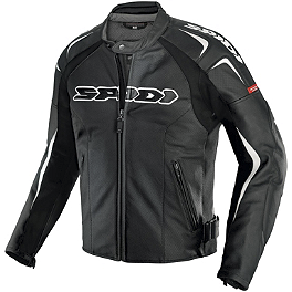 Spidi Track Wind Vented Leather Jacket - Suzuki Genuine Accessories Top Case Color Insert - Black