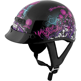 Speed & Strength SS300 Helmet - Wicked Garden - River Road Grateful Dead Helmet - Steal Your Face Storm