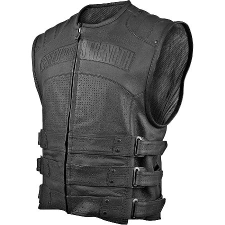 Speed & Strength Hard Knock Life Leather Vest - Main
