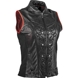 Speed & Strength Women's Moto Lisa Leather Vest - Pokerun Women's Vixen Leather Vest