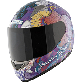 Speed & Strength Women's SS1100 Helmet - Flower Power - Icon Alliance Helmet - Cherry Pop