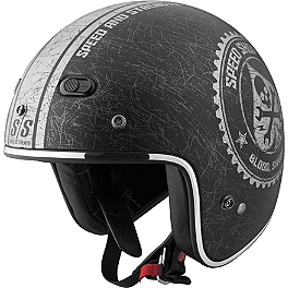 Speed & Strength SS600 Helmet - Speed Shop - River Road Grateful Dead Open Face Helmet - Vintage Cyclops
