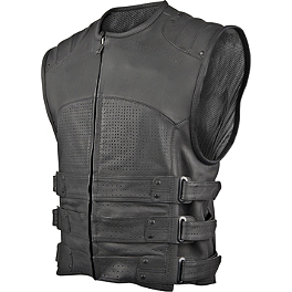 Speed & Strength Tough As Nails Leather Vest - River Road Ruffian Leather Perforated Vest