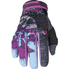Speed & Strength Women's Wicked Garden Gloves - GMAX GM67 Helmet - Butterfly