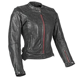 Speed & Strength Women's Black Widow Leather Jacket - Power Trip Women's Leather Scarlet Jacket