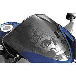Sportech Black Skull Series Windscreen - Suzuki Motorcycle Windscreens and Accessories