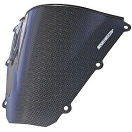 Sportech V-Flow Series Windscreen - Carbon Look - 2002 Honda CBR600F4I Circuit 1 Mirror Plates
