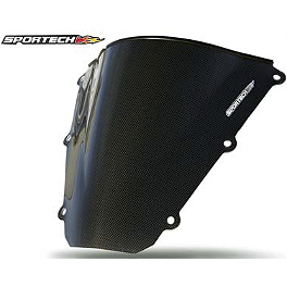 Sportech V-Flow Series Windscreen - Carbon Look - 2005 Kawasaki ZX636 - Ninja ZX-6R Sportech Shadow Series Windscreen