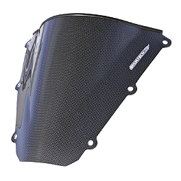 Sportech V-Flow Series Windscreen - Carbon Look - Carbon Fiber Works Carbon Fiber Windscreen